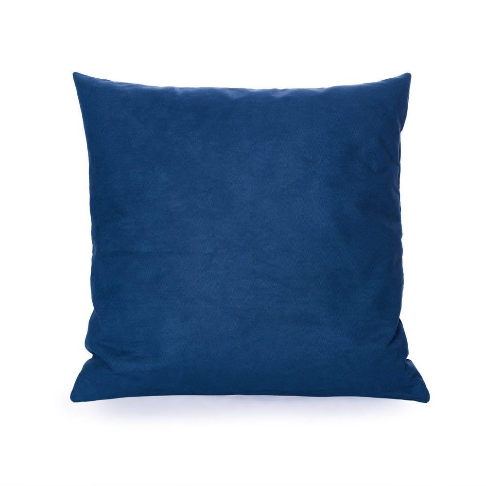 Cojín decorativo cuadrado de poliéster Saratoga® color azul