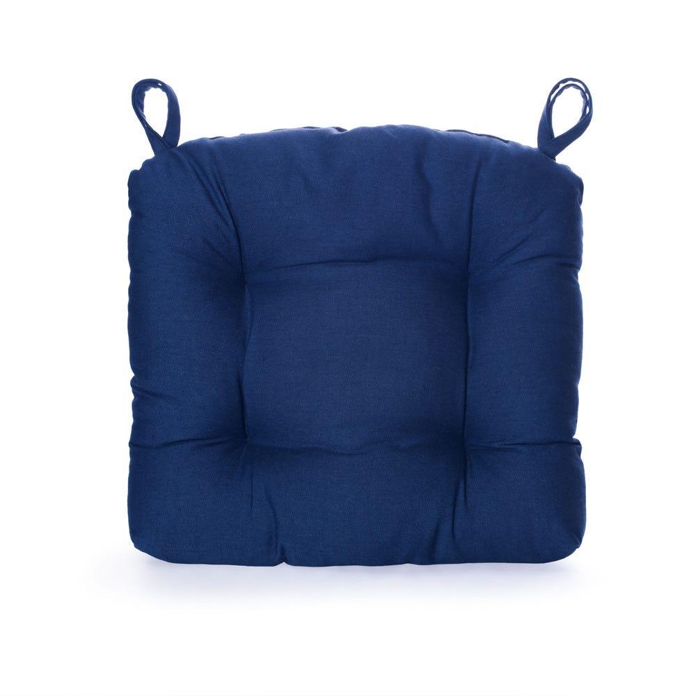 Cojín para silla de poliéster Saratoga® color azul