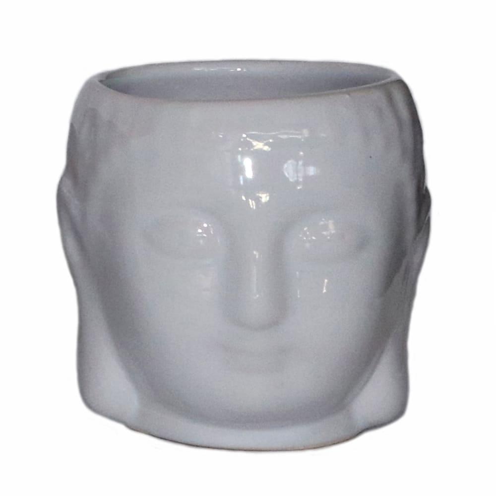 Maceta de cerámica Casa Mejicú® con forma de cabeza de Buda