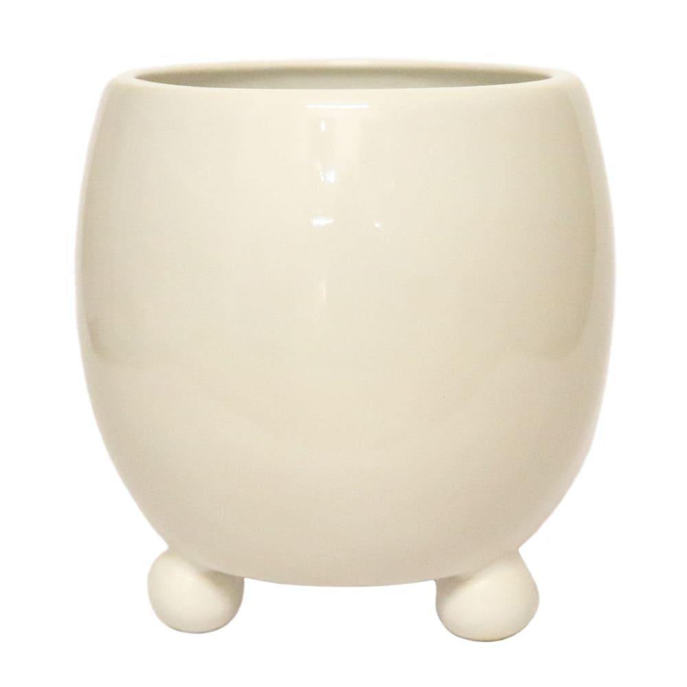 Maceta de cerámica Casa Mejicú® barril con 3 patas