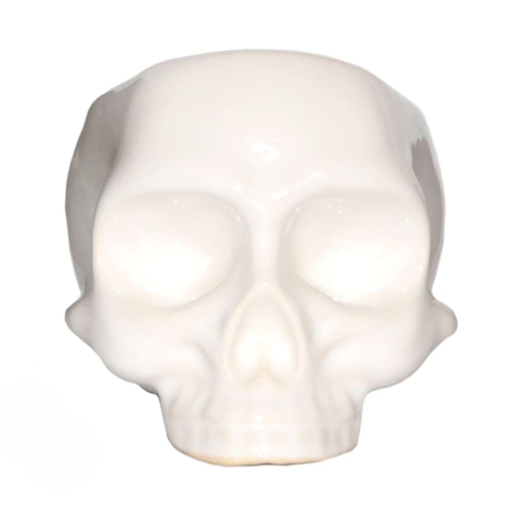 Maceta de cerámica Casa Mejicú® con forma de cráneo