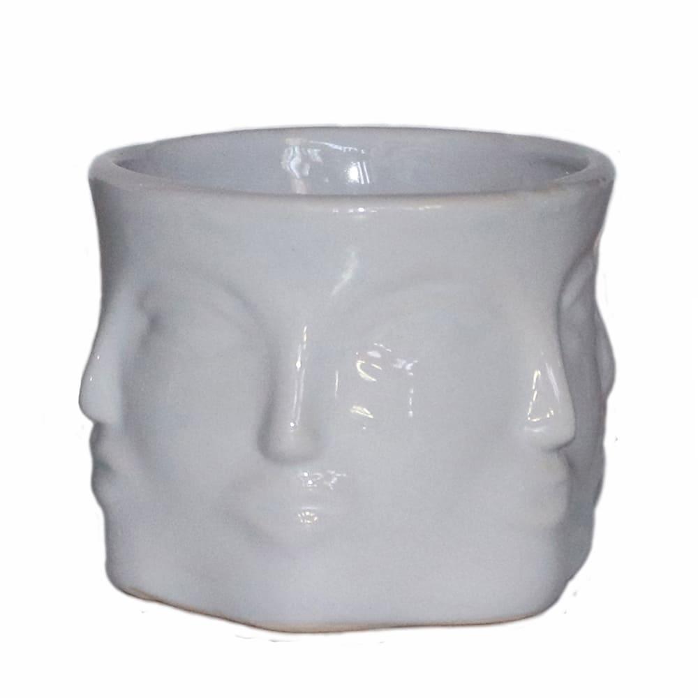Maceta de cerámica Casa Mejicú® con forma de Buda de seis caras