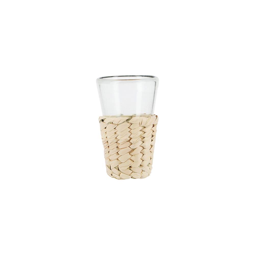 Tequilero de cristal y fibra de palma AC Palma®