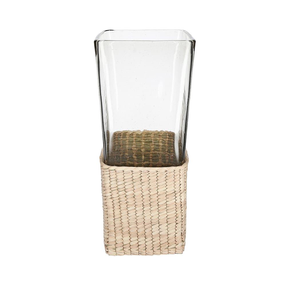 Florero de cristal y fibra de palma AC Palma® chico