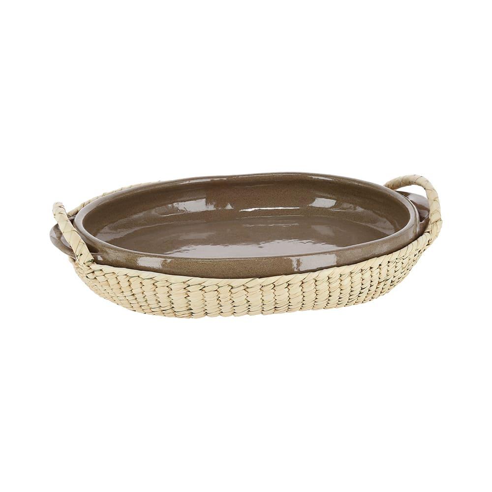 Cazuela ovalada de barro AC Palma® artesanal