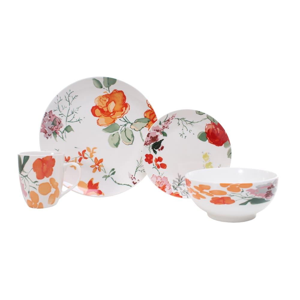 Vajilla redonda de porcelana Crown Baccara Camelot