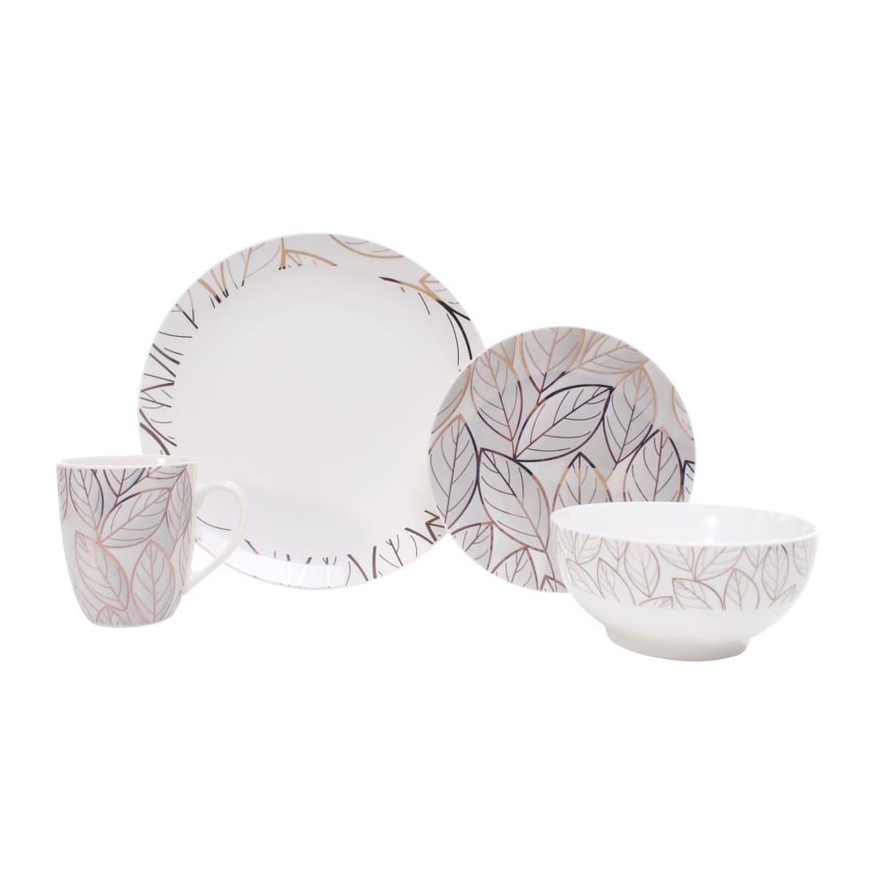 Vajilla redonda de porcelana Crown Baccara Cicely