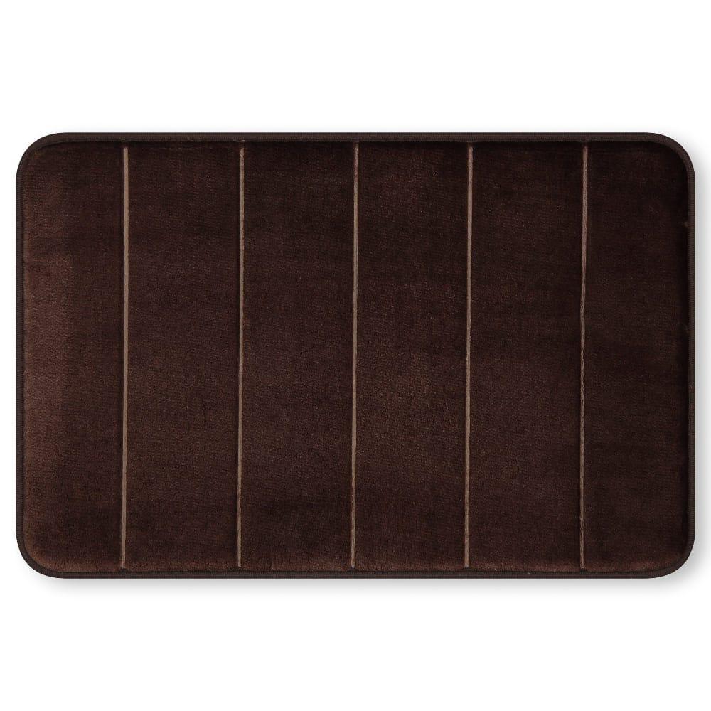 Tapete para baño de memory foam Casamia® a rayas color chocolate