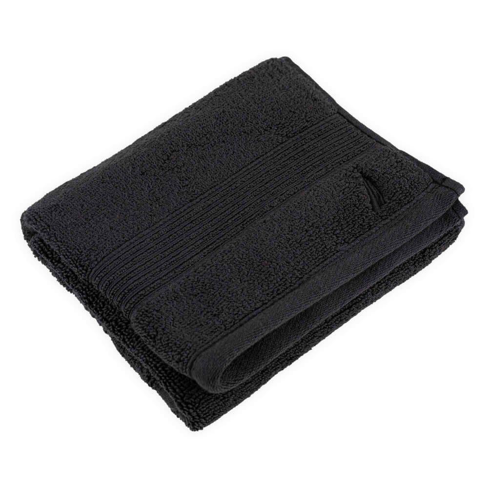 Toalla para manos de algodón Nautica® Montford color negro