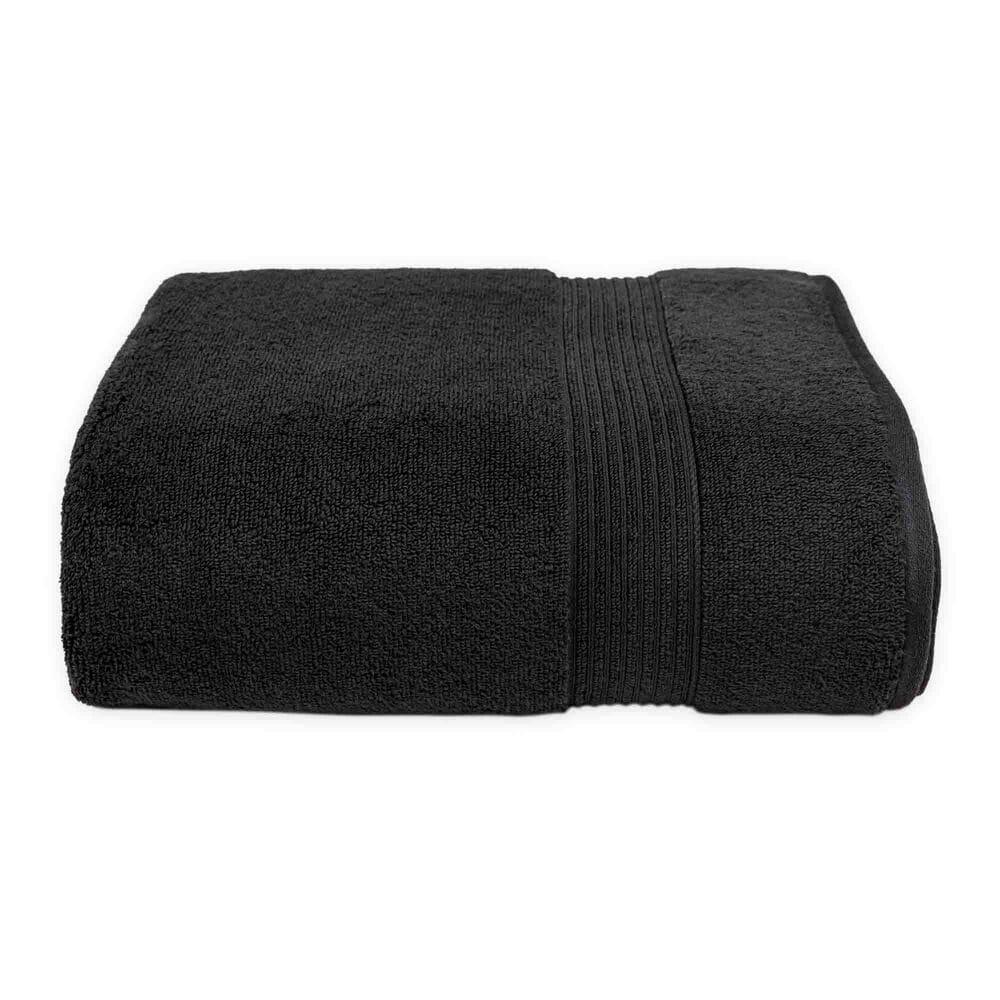 Toalla de medio baño de algodón Nautica® Montford color negro