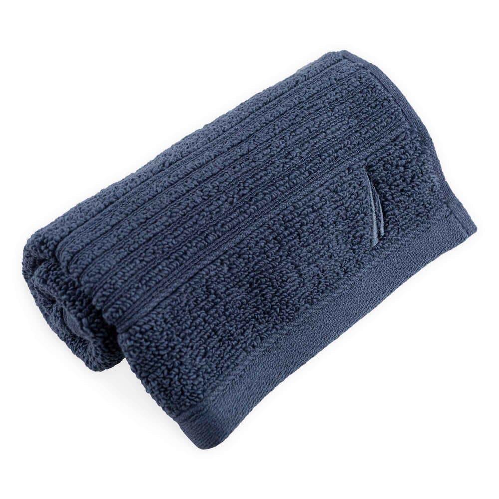Toalla facial de algodón Nautica® Montford color azul marino