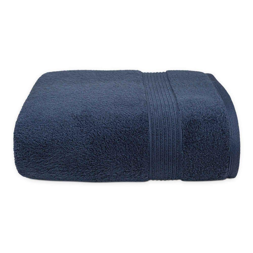 Toalla de medio baño de algodón Nautica® Montford color azul marino