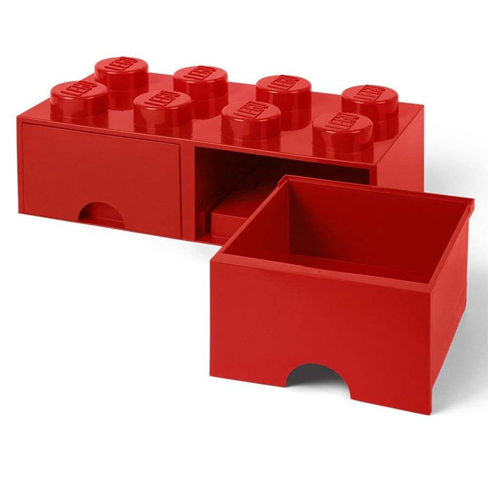 Cajonera de polipropileno LEGO® Brick 8 color rojo