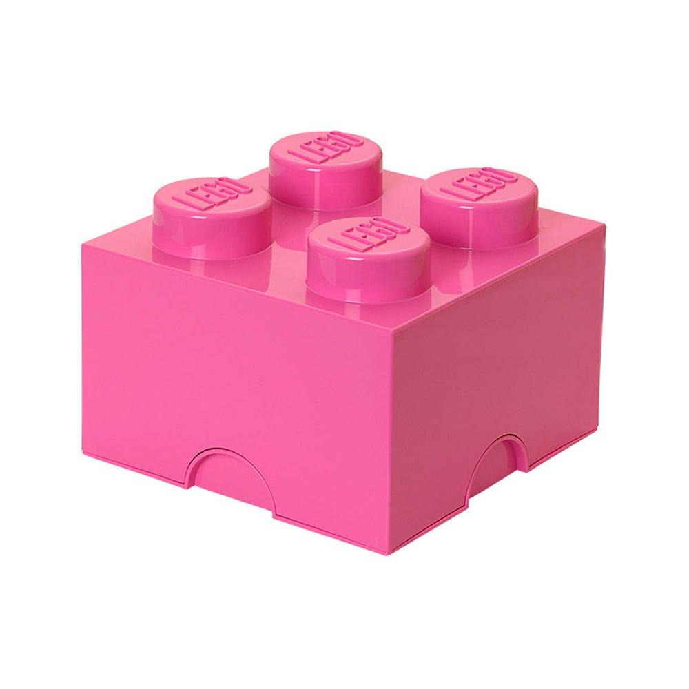 Caja de polipropileno LEGO® Brick 4 color rosa