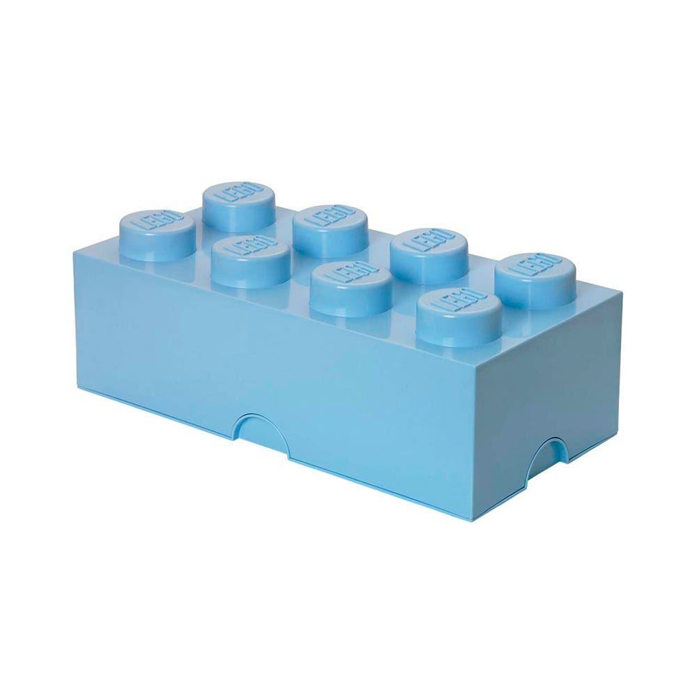 Caja de polipropileno LEGO® Brick 8 color azul claro
