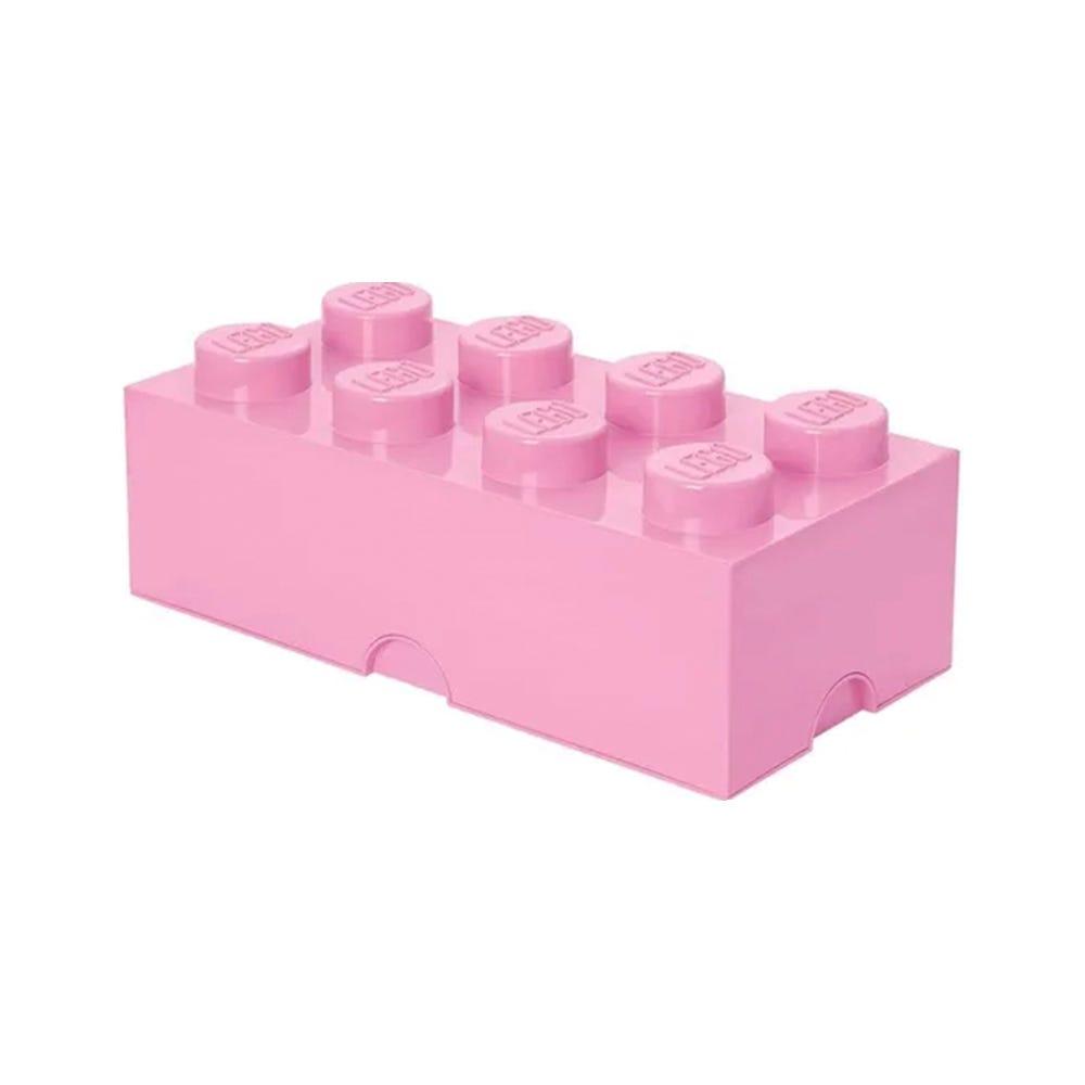 Caja de polipropileno LEGO® Brick 8 color rosa claro