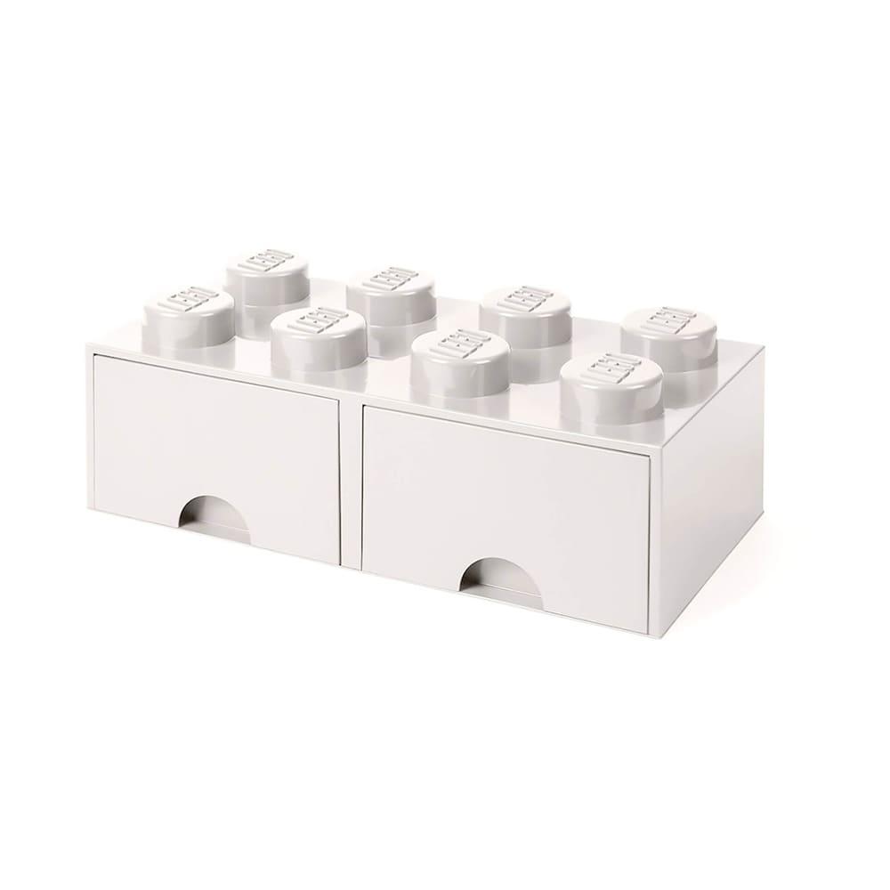 Cajonera de polipropileno LEGO® Brick 8 color blanco