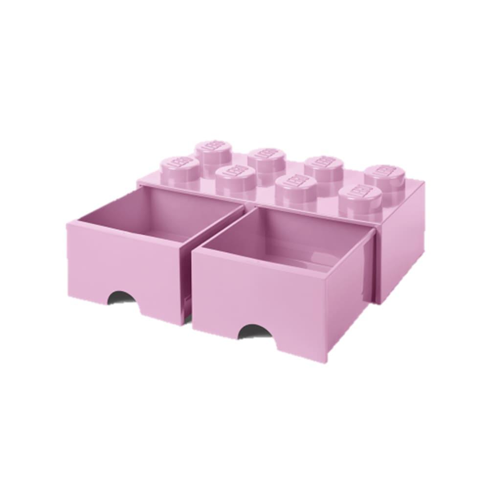 Cajonera de polipropileno LEGO® Brick 8 color rosa claro