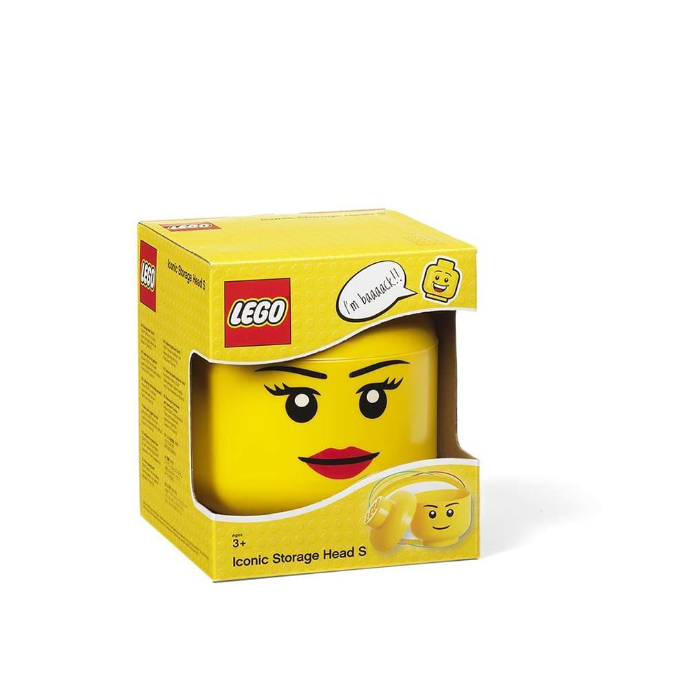 Cabeza de almacenamiento de polipropileno chica LEGO® Niña