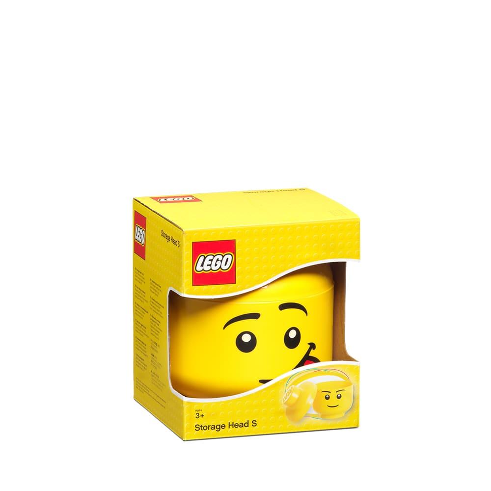 Cabeza de almacenamiento de polipropileno chica LEGO® Cara boba