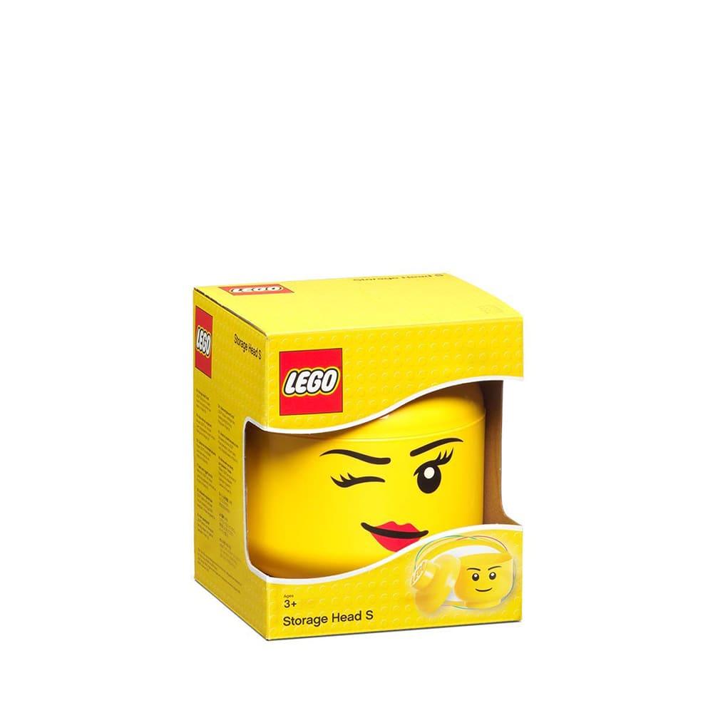 Cabeza de almacenamiento de polipropileno chica LEGO® Niña guiño