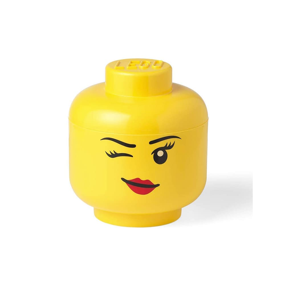Cabeza de almacenamiento de polipropileno grande LEGO® Niña guiño