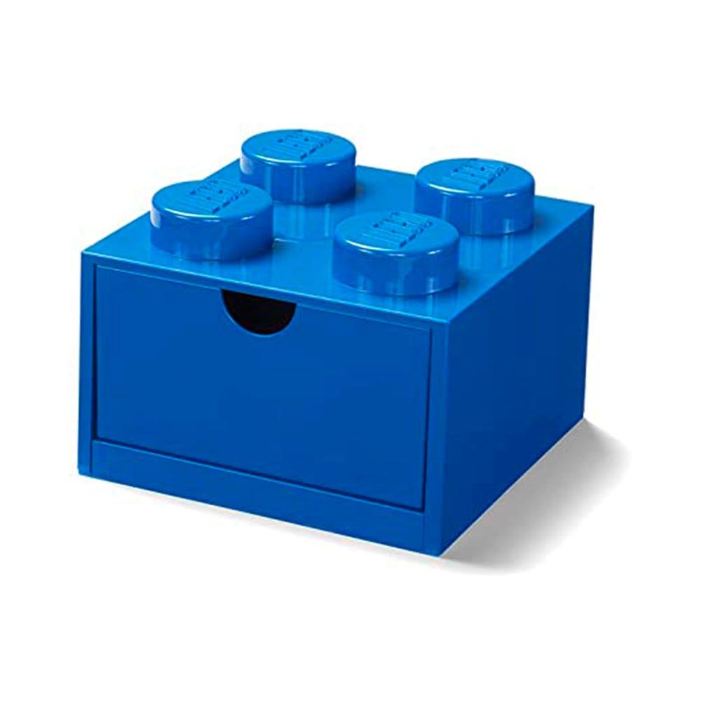 Cajón apilable de polipropileno LEGO® Brick 4 color azul