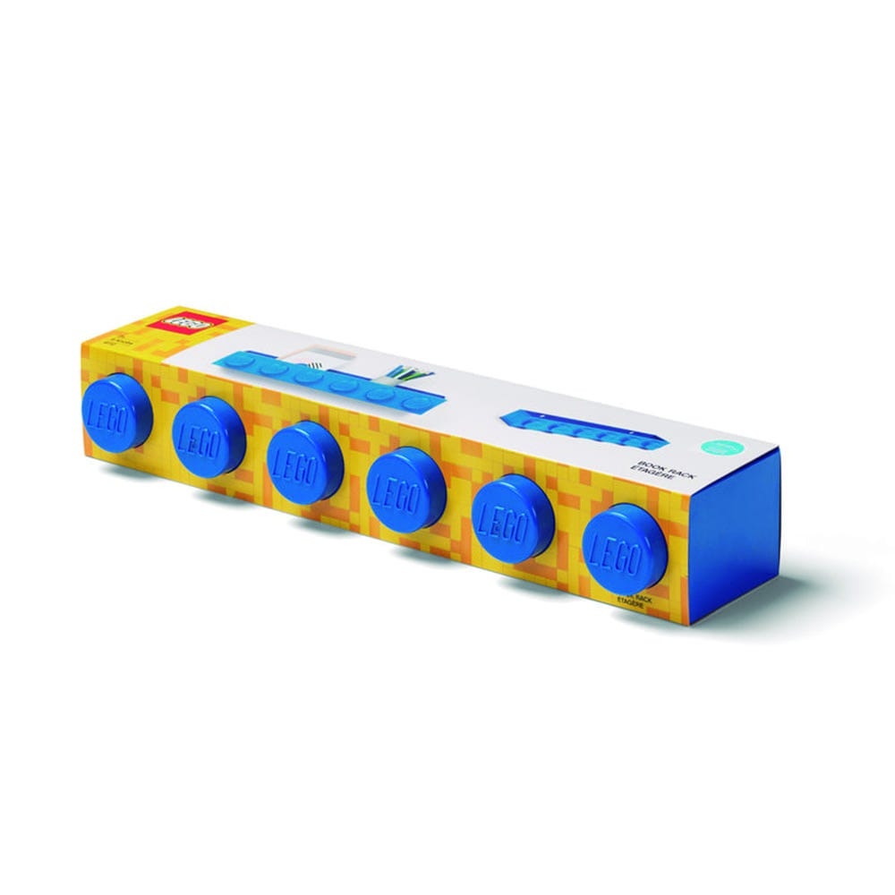 Repisa de plástico LEGO® Book color azul
