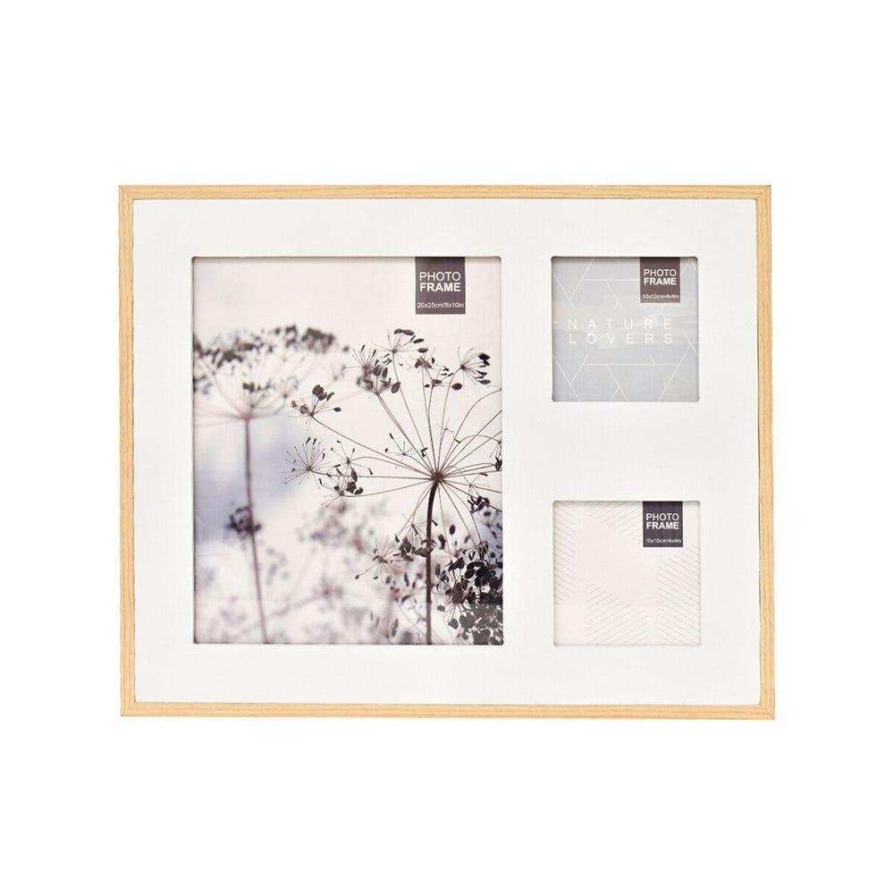 Portarretratos múltiple de metal Fiorum® color plata