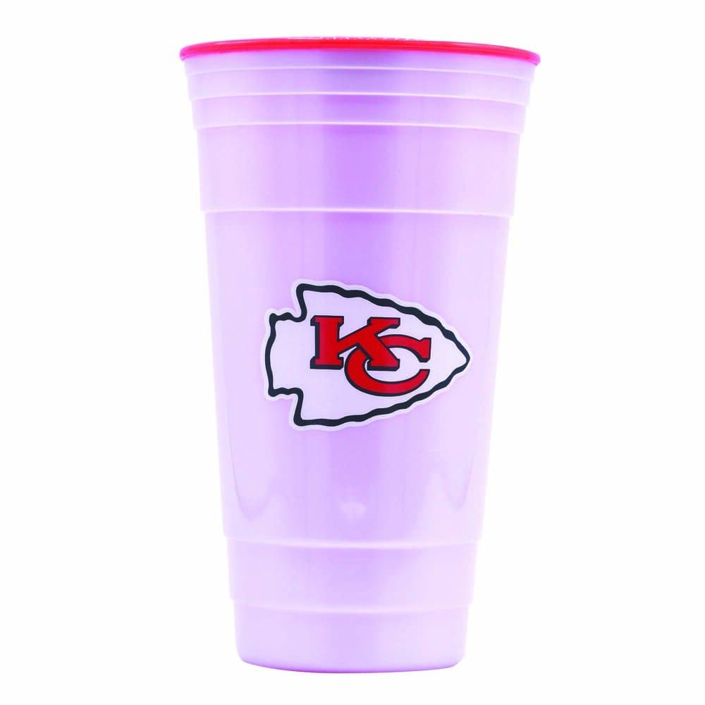 Vaso de plástico para fiesta NFL Chiefs de 900 mL