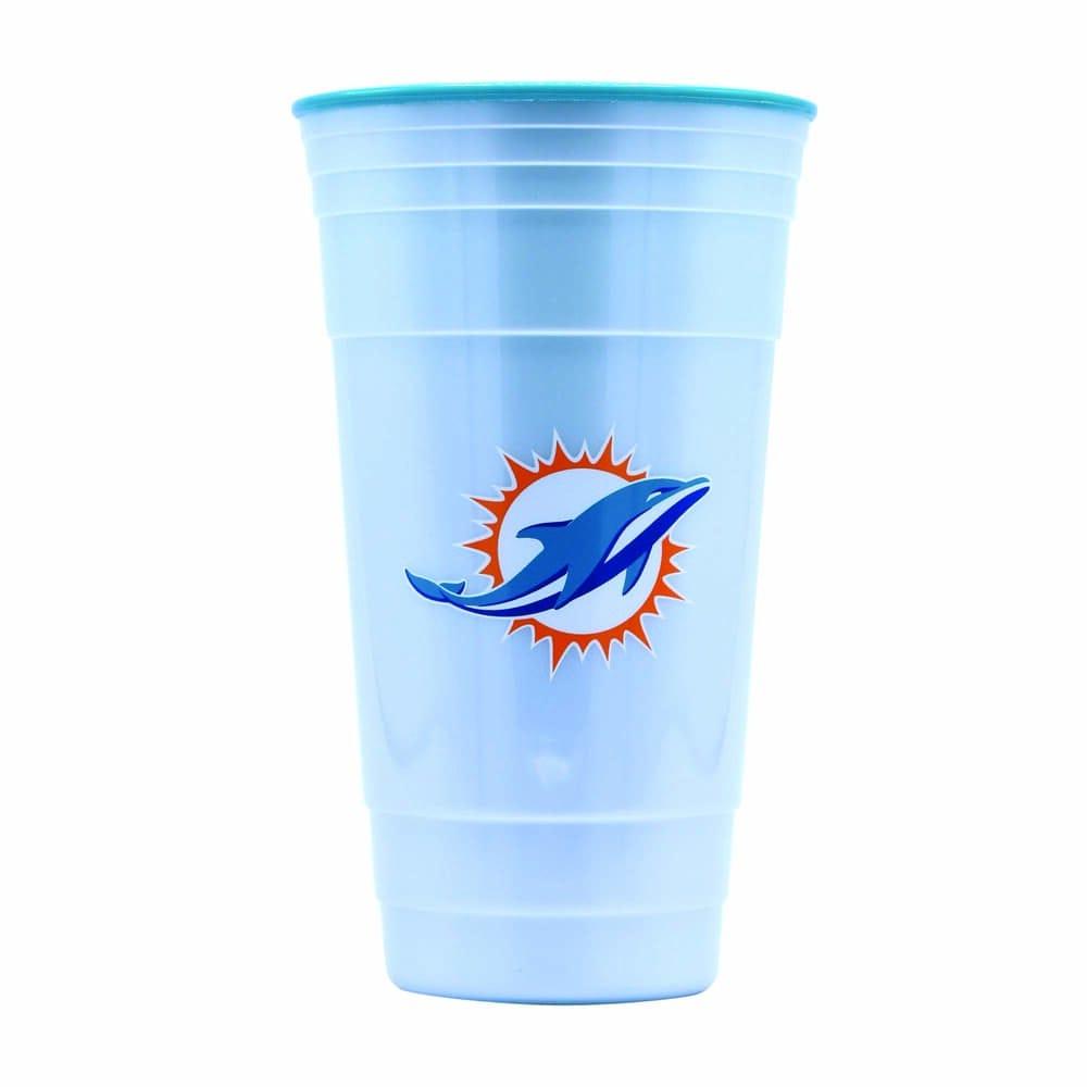Vaso de plástico para fiesta NFL Dolphins de 900 mL