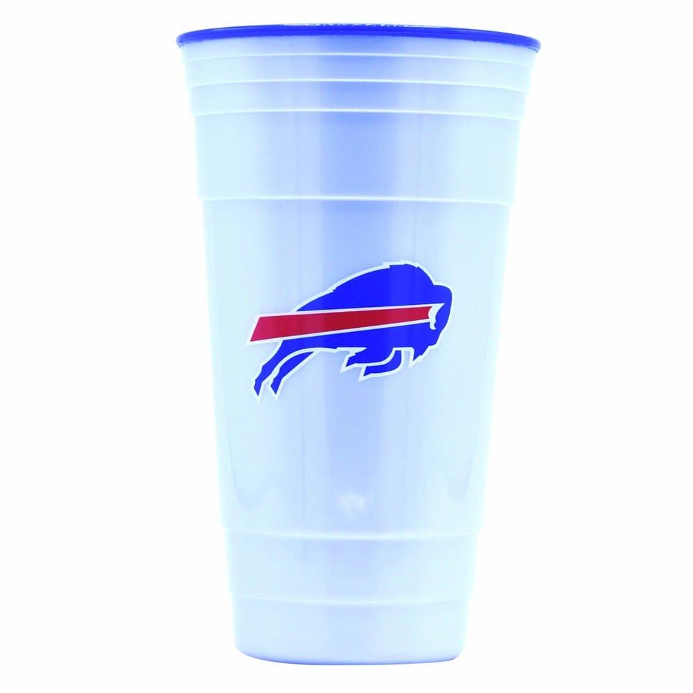 Vaso de plástico para fiesta NFL Bills de 900 mL