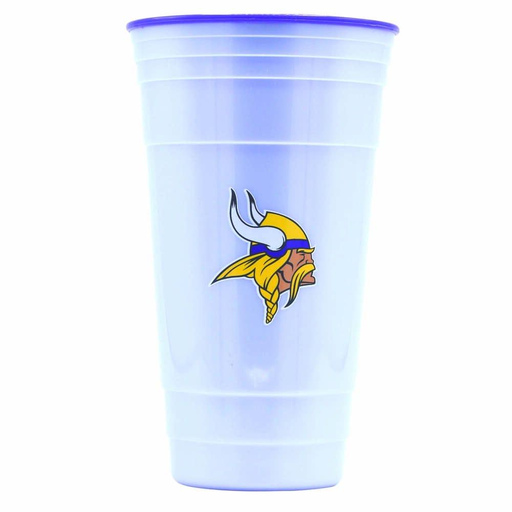 Vaso de plástico para fiesta NFL Vikings de 900 mL