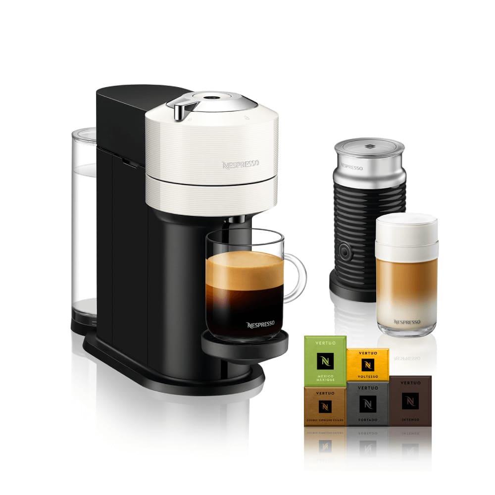 Cafetera Vertuo Next Nespresso® con Aeroccino 3 color blanco