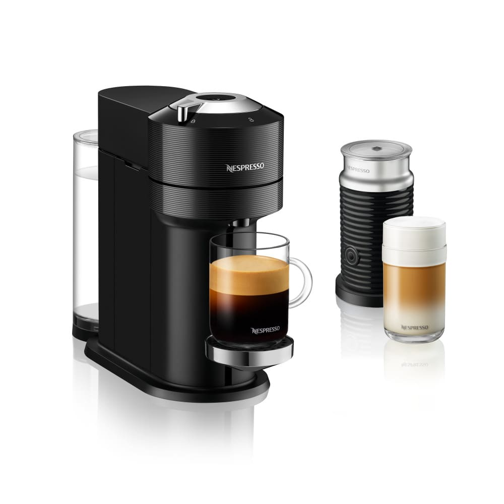 Cafetera Vertuo Next Nespresso® con Aeroccino 3 color negro clásico