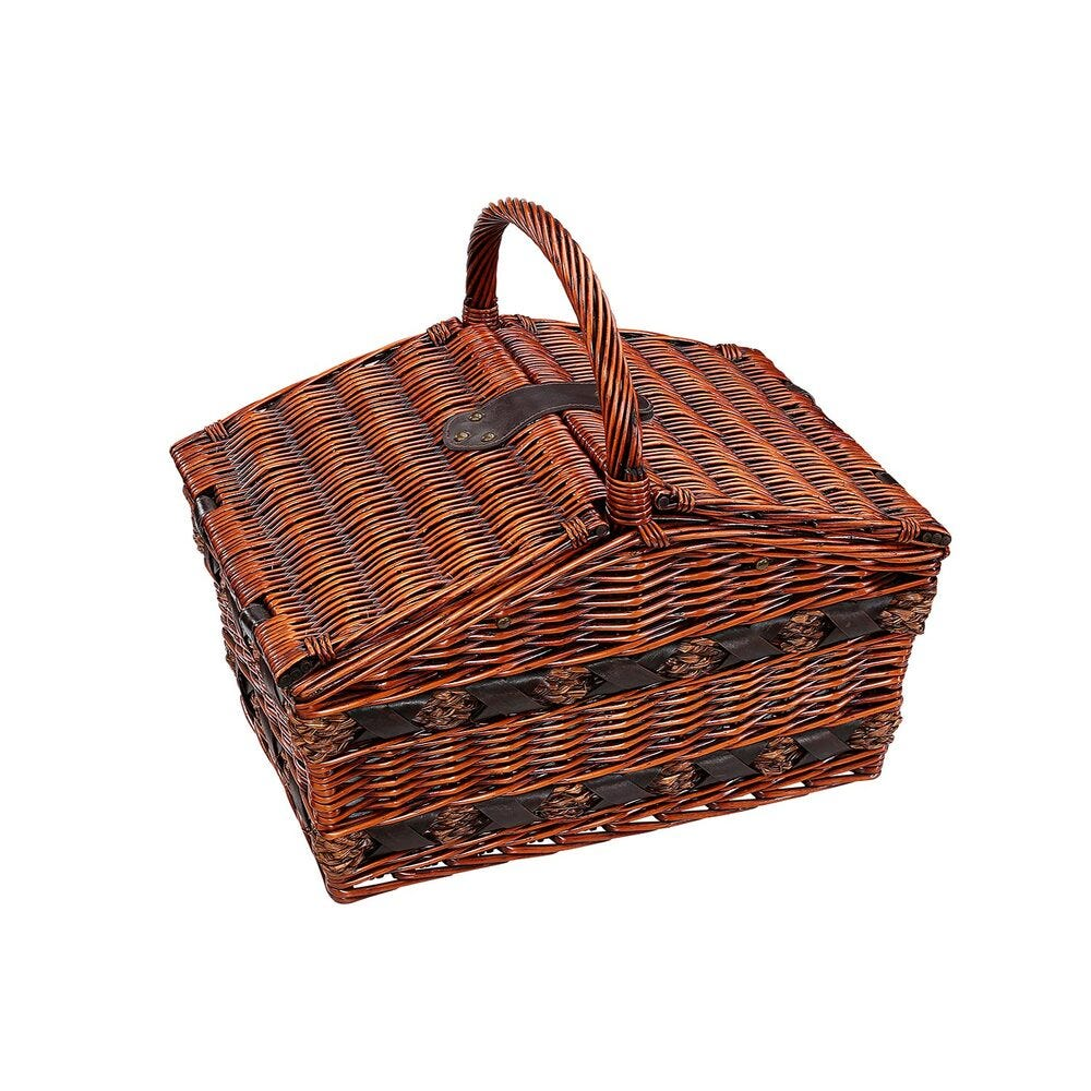 Canasta para picnic de sauce Cilio Como color café oscuro