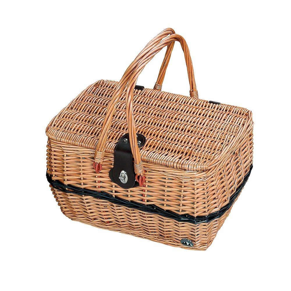 Canasta para picnic de sauce Cilio Idro color café claro