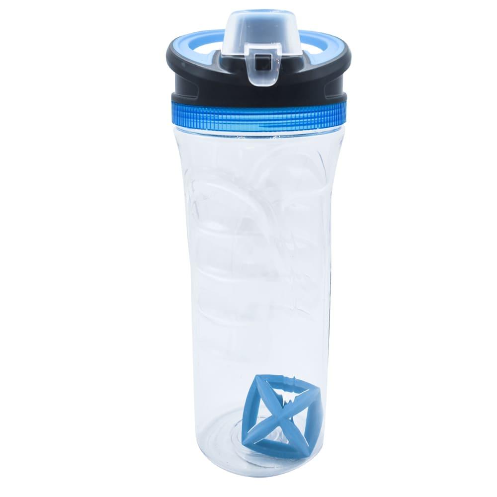 Botella shaker de tritán Cool Gear para proteína color azul