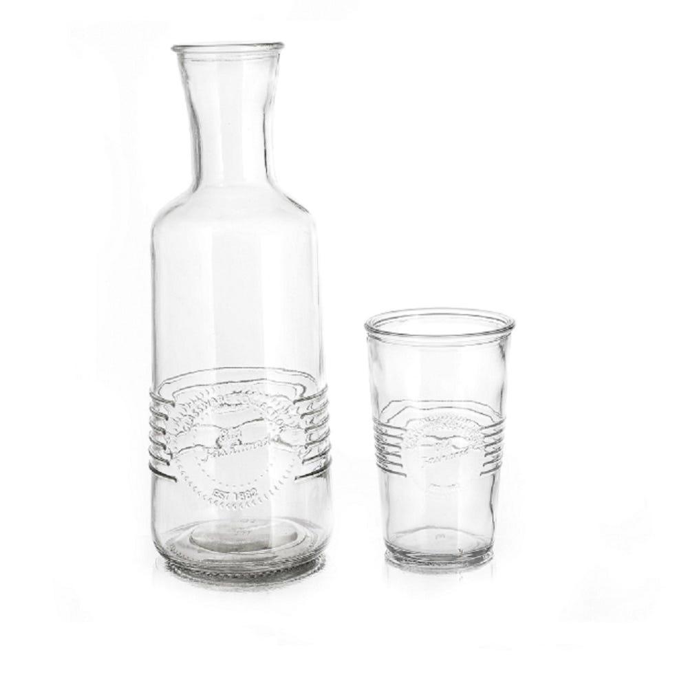 Jarra de noche de vidrio Reimart con vaso