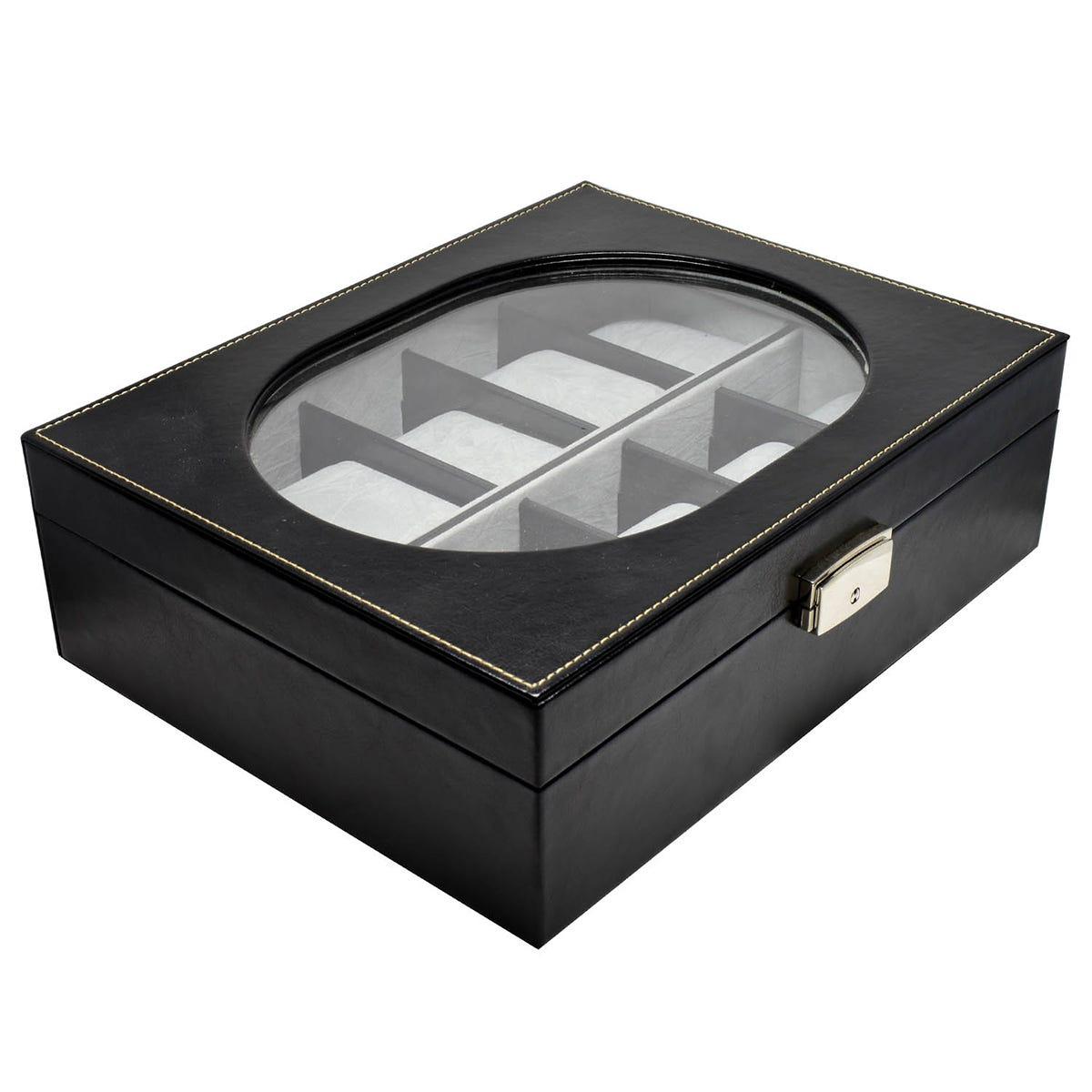 Estuche para 10 relojes Zonana® con ventana ovalada