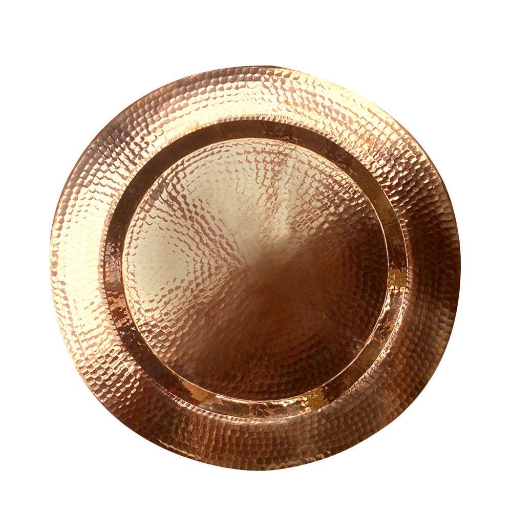Plato redondo de cobre Despertar