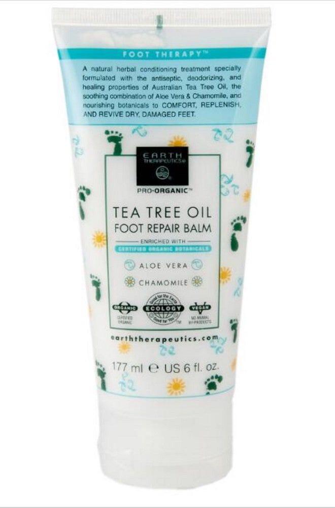 Bálsamo para pies con aceite de árbol de té Earth Therapeutics®, 29.57 mL (6 oz)
