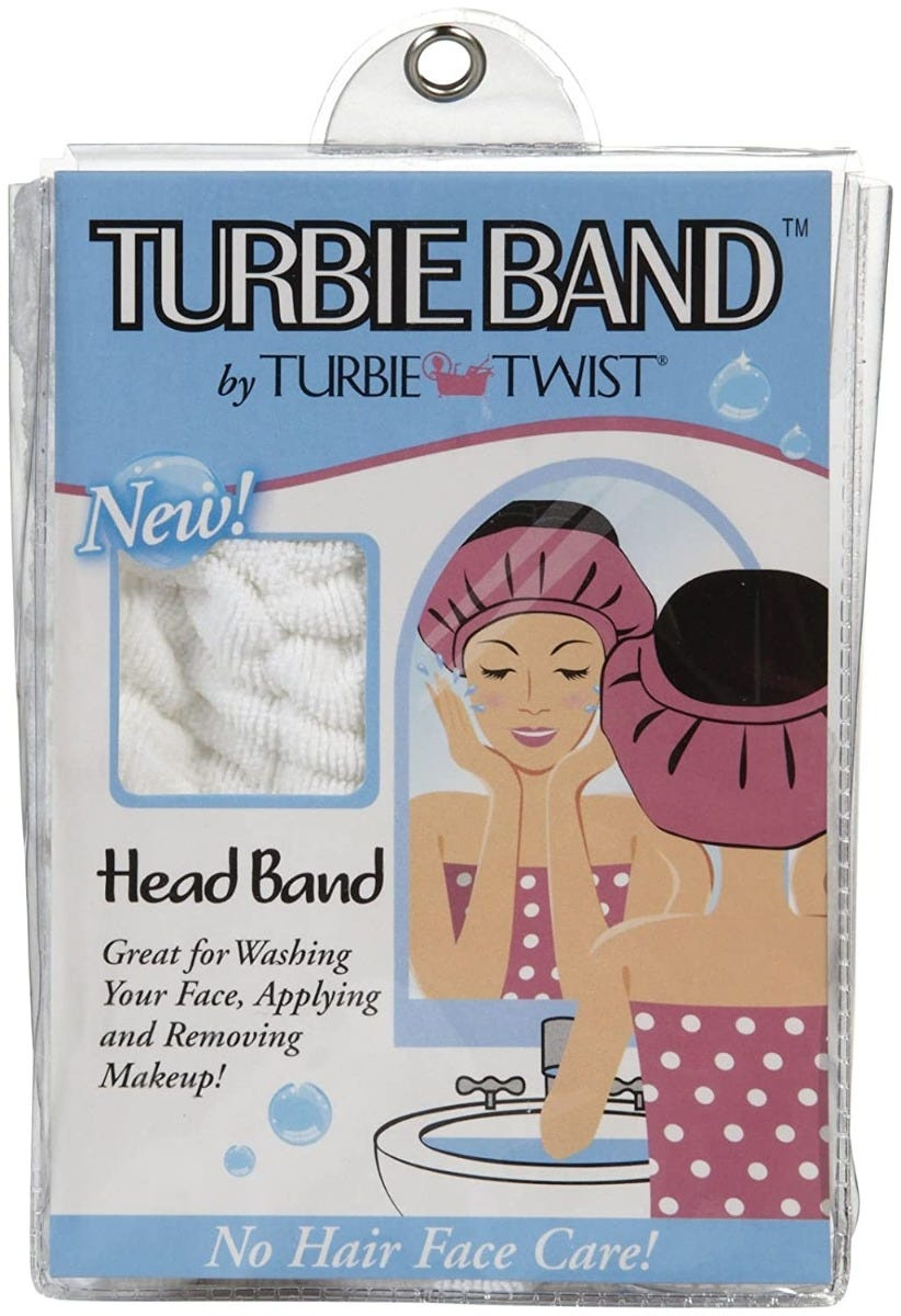 Banda para cabello Turbie Twist® The Turbie Band®, en blanco