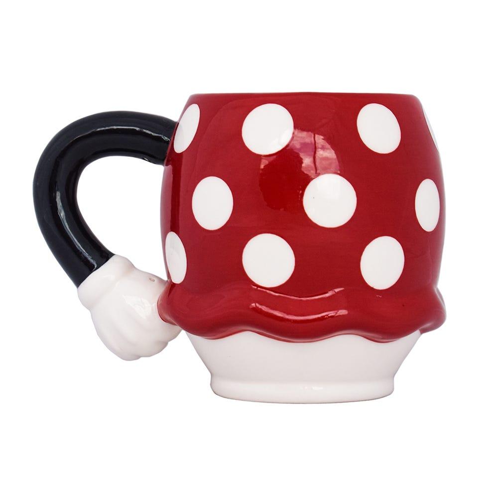 Taza de cerámica fun kids 3D de Minnie Mouse color rojo