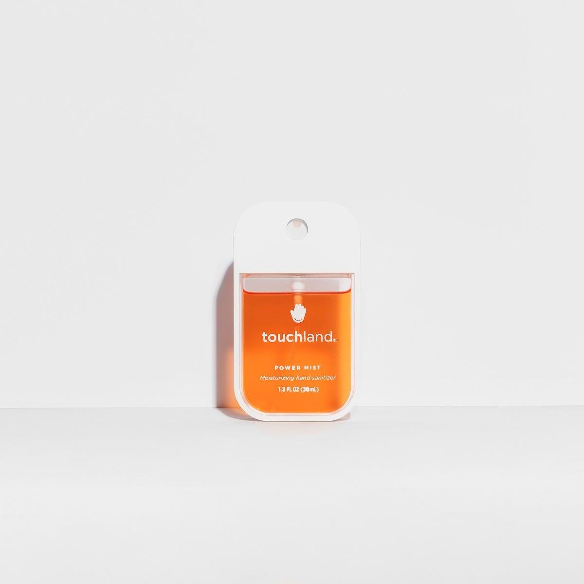 Spray antibacterial para manos Touchland aroma cítrico en naranja