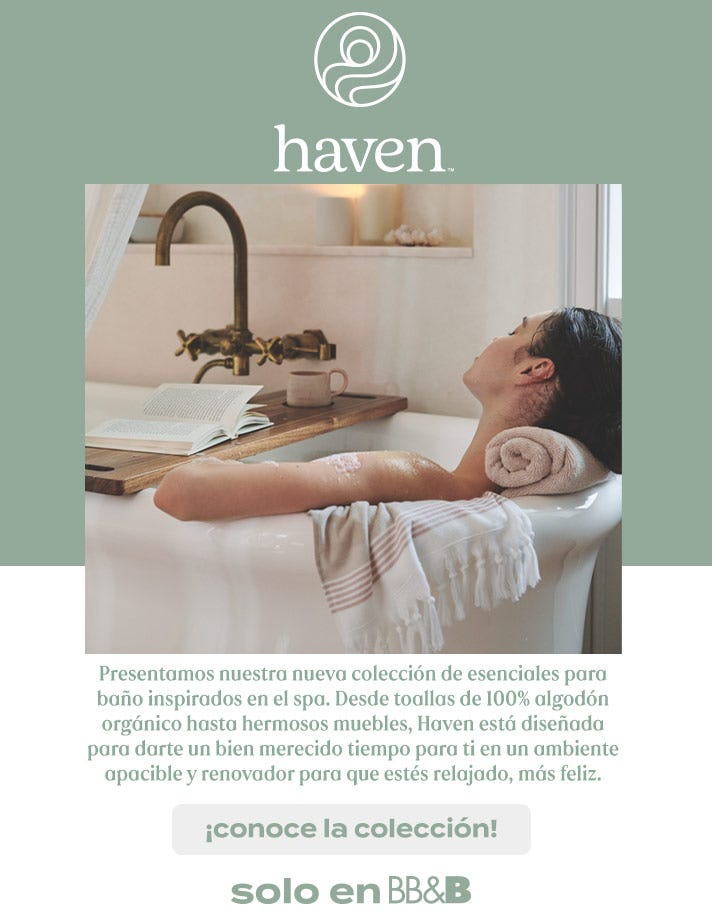 Escapate spa Haven tranquilidad descanso BedBathandBeyond