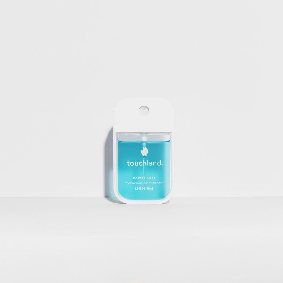 Spray antibacterial para manos Touchland aroma menta en azul