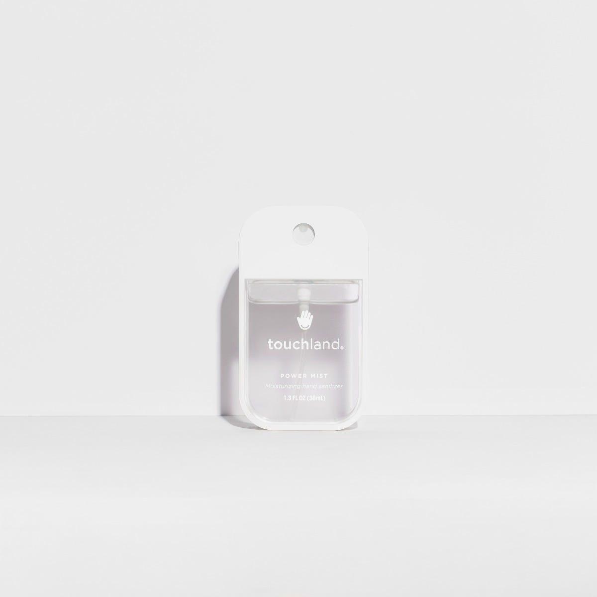 Spray antibacterial para manos Touchland neutro en blanco